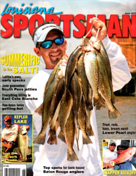 Captain Chris Pike Jr on the cover of Louisiana Sportsman